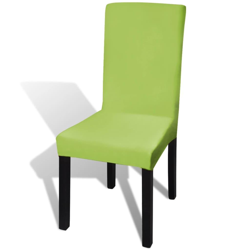 Husă elastică dreaptă pentru scaun, verde, 4 buc.