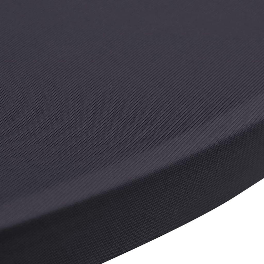 Husă elastică pentru masă, 60 cm, antracit, 2 buc.