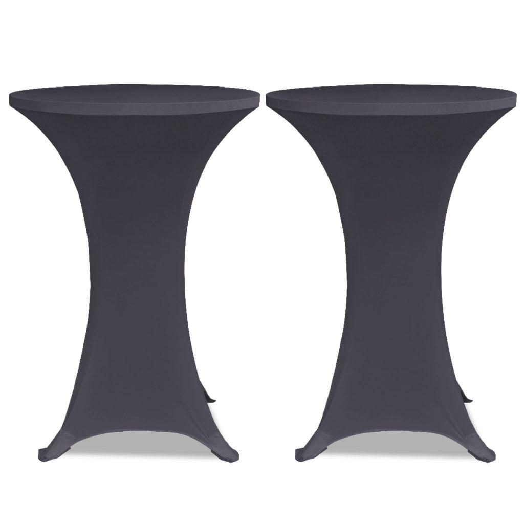 Husă elastică pentru masă, 70 cm, antracit, 2 buc.