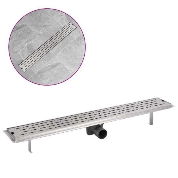 Rigolă duș liniară din oțel inoxidabil, model linie, 830×140 mm