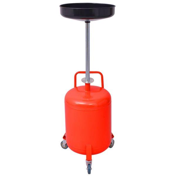vidaXL Rezervor decantare ulei uzat, 49,5 L, oțel, roșu