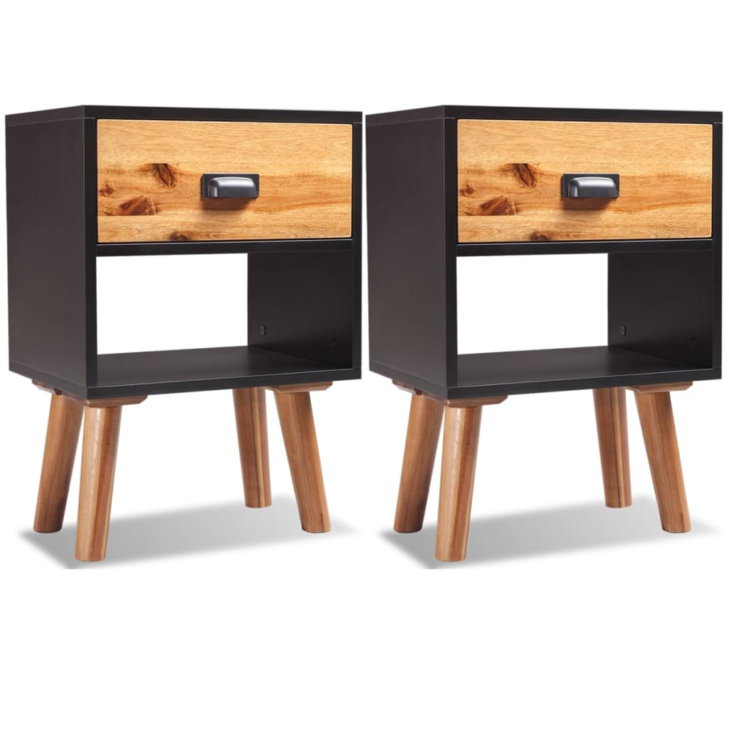 vidaXL Noptiere din lemn de salcâm 2 buc. 40x30x58 cm