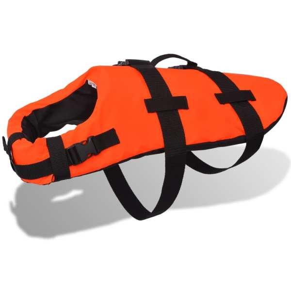 vidaXL Vestă de salvare câini, mărime S, portocaliu