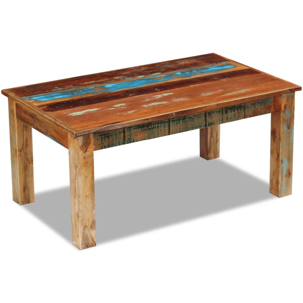 vidaXL Masă de cafea, lemn reciclat de esență tare, 100x60x45 cm