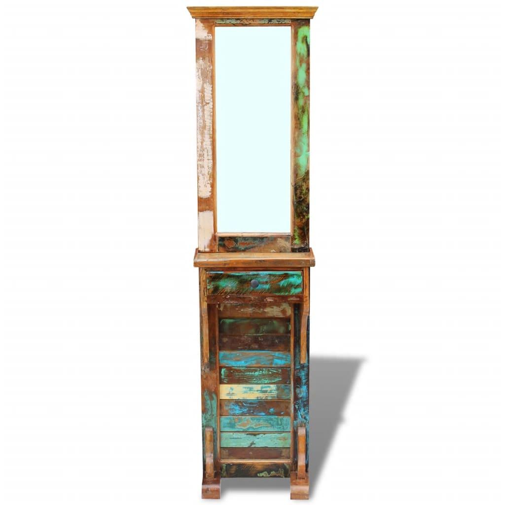 vidaXL Oglindă pentru hol, lemn reciclat solid, 47 x 23 x 180 cm