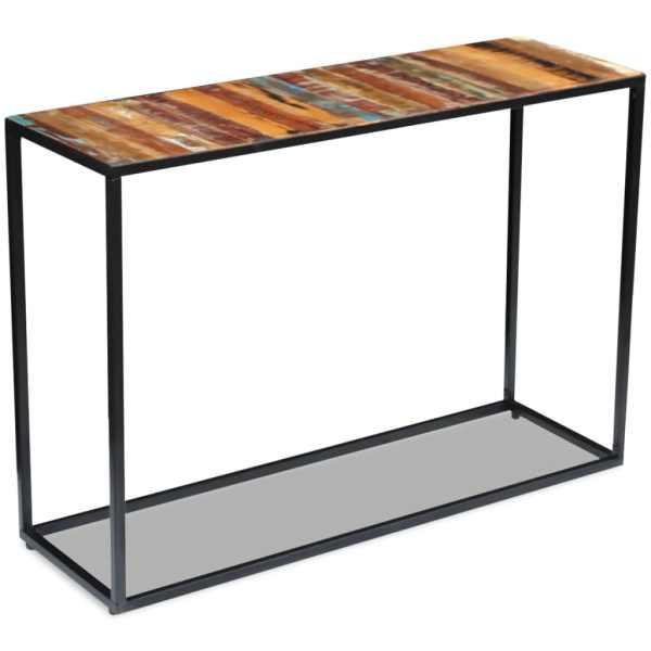 vidaXL Masă consolă, lemn reciclat de esență tare, 110x35x76 cm