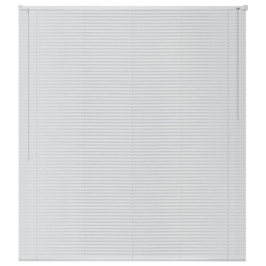 Jaluzele pentru ferestre din aluminiu 120 x 160 cm, alb