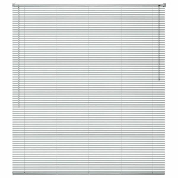 vidaXL Jaluzele de ferestre, aluminiu, 120 x 130 cm, argintiu