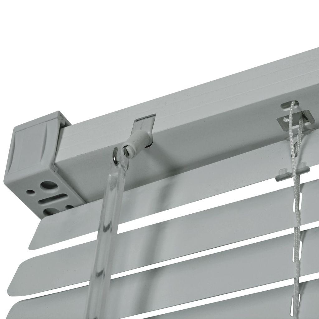 Jaluzele de fereastră, aluminiu, 80 x 160 cm, argintiu