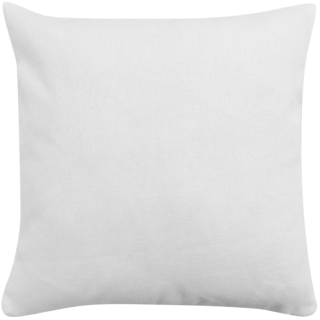 Huse de pernă cu aspect de pânză, 80 x 80 cm, alb, 4 buc.