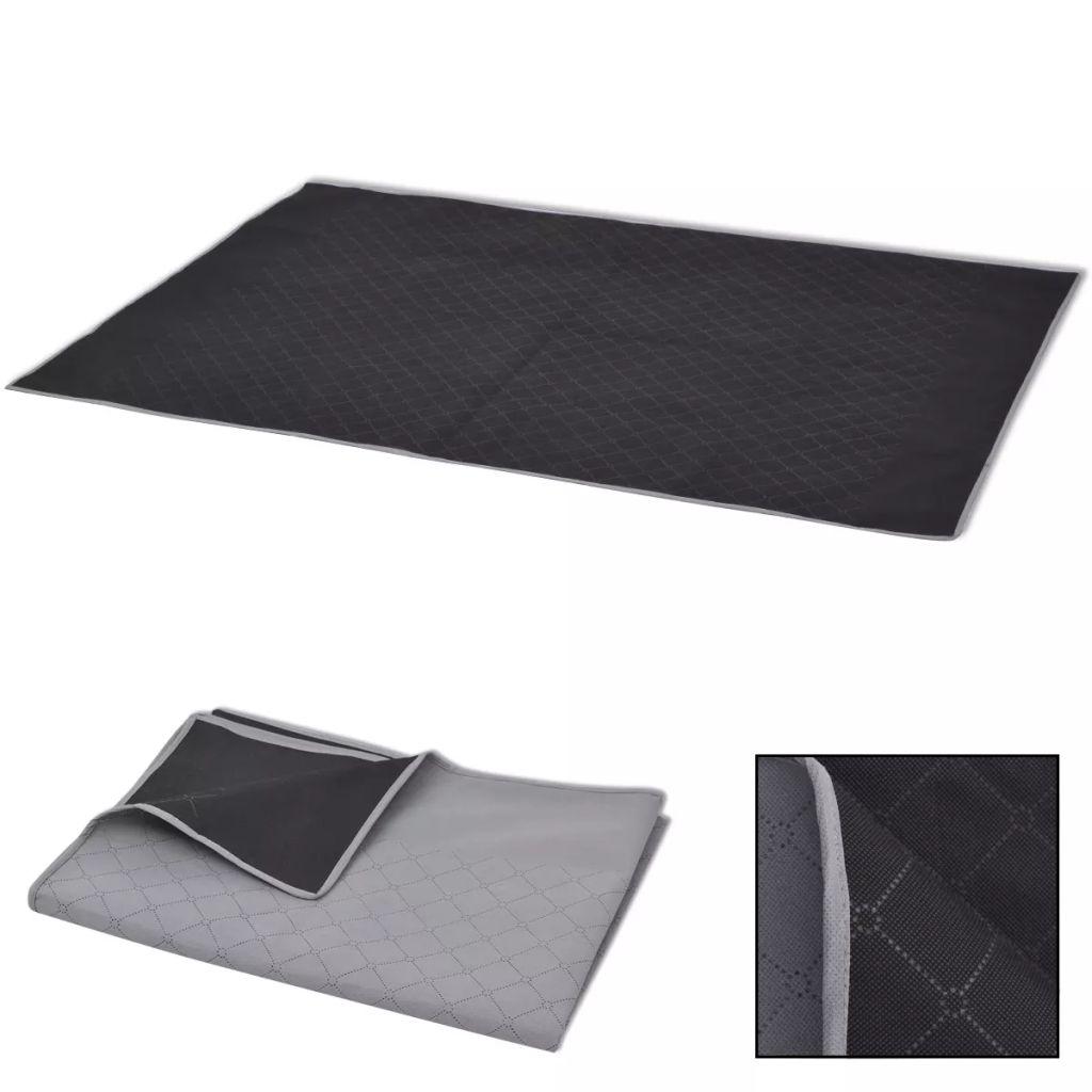 vidaXL Pătură pentru picnic, gri și negru, 100 x 150 cm