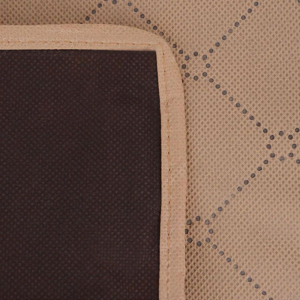 Pătură pentru picnic, bej și maro, 150 x 200 cm