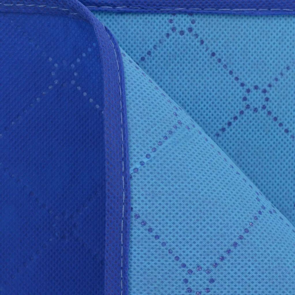 Pătură pentru picnic, albastru și bleu, 150 x 200 cm