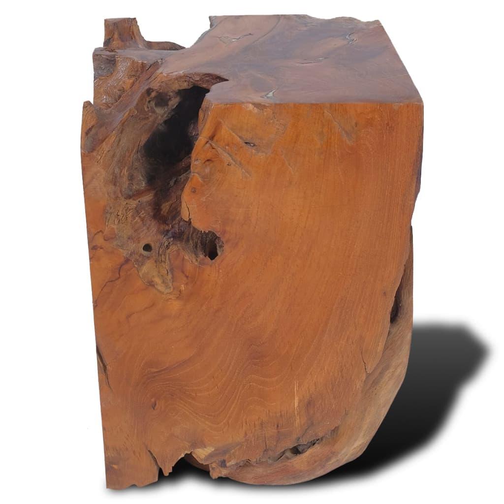vidaXL Taburet, lemn de tec masiv