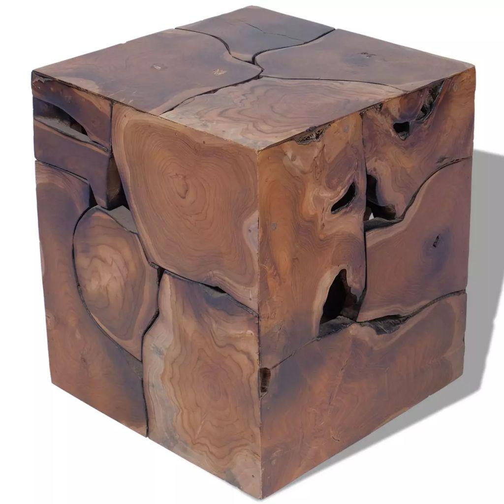 Taburet, lemn de tec masiv