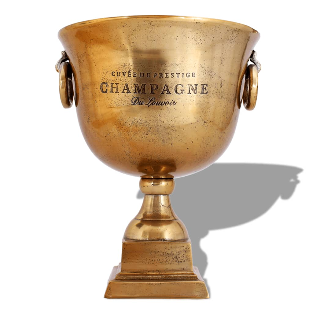 Frapieră pentru șampanie, model cupă trofeu, maro