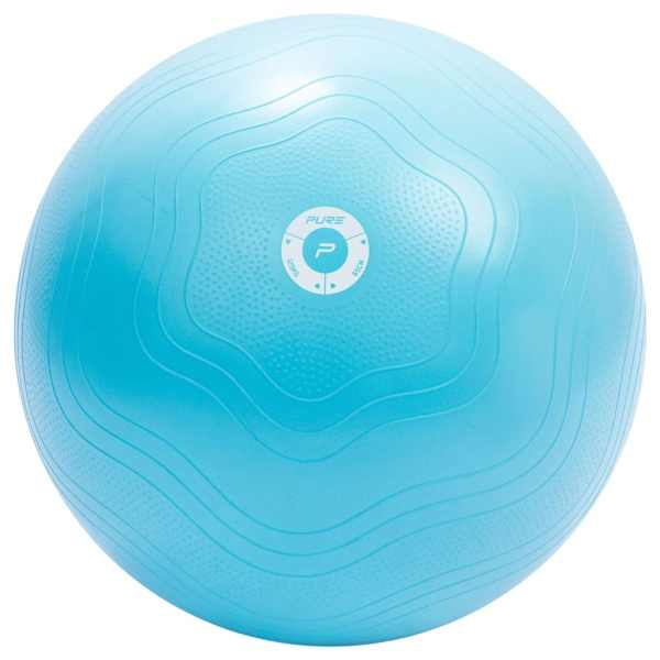 Pure2Improve Minge de fitness, bleu, 65 cm
