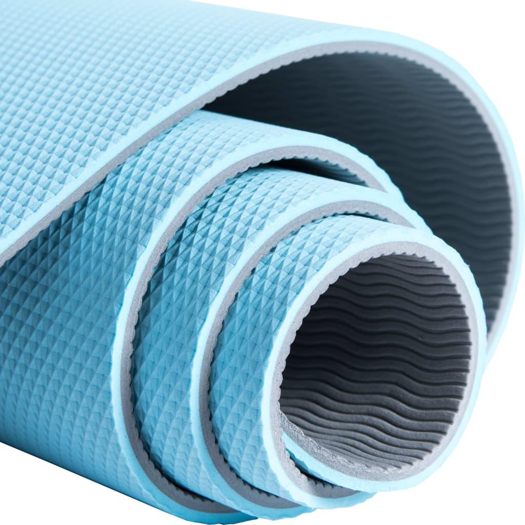Pure2Improve Saltea yoga, albastru și gri, 173 x 58 x 0,6 cm