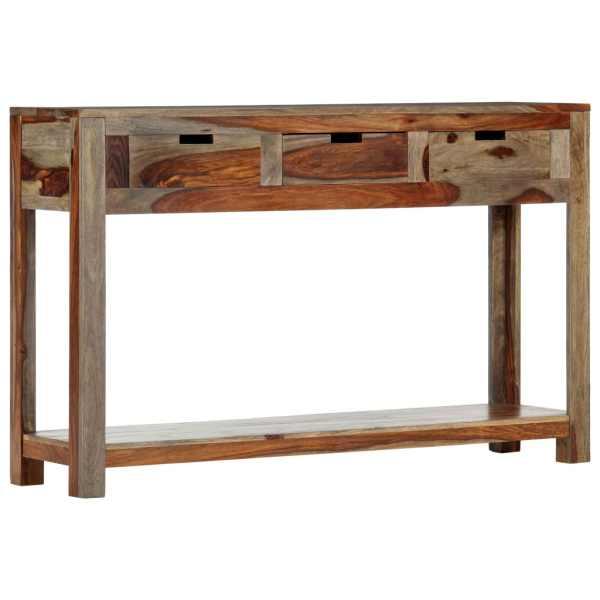 vidaXL Masă consolă cu 3 sertare, 120x30x75 cm, lemn masiv de sheesham