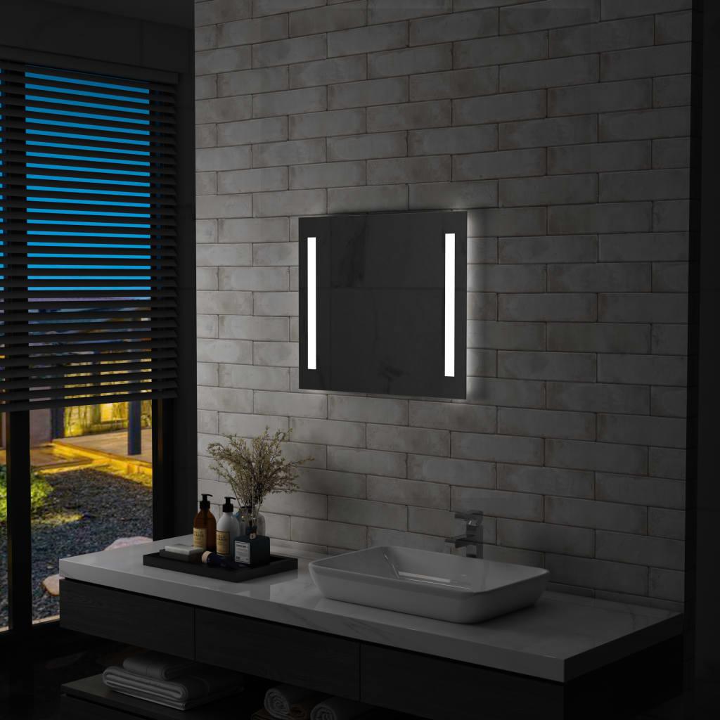 vidaXL Oglindă de perete de baie cu LED, 60 x 50 cm