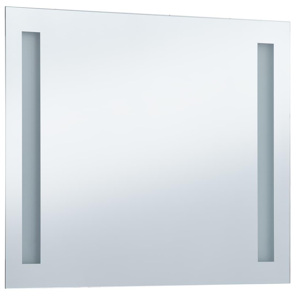 vidaXL Oglindă de perete de baie cu LED, 80 x 60 cm
