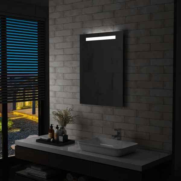 vidaXL Oglindă cu LED de perete de baie, 60 x 80 cm