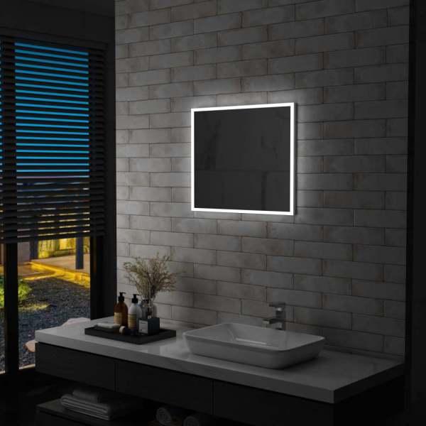 vidaXL Oglindă cu LED de perete pentru baie, 60 x 50 cm