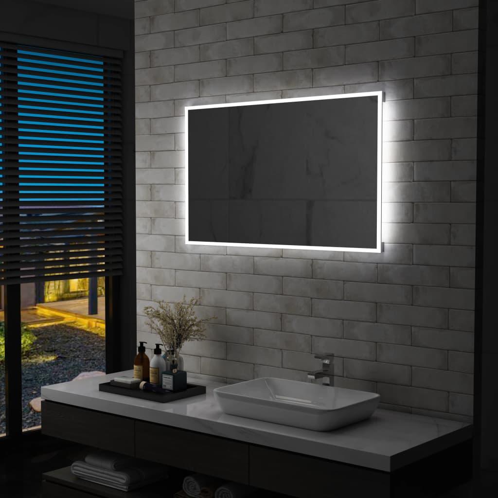 vidaXL Oglindă cu LED pentru perete de baie, 100 x 60 cm