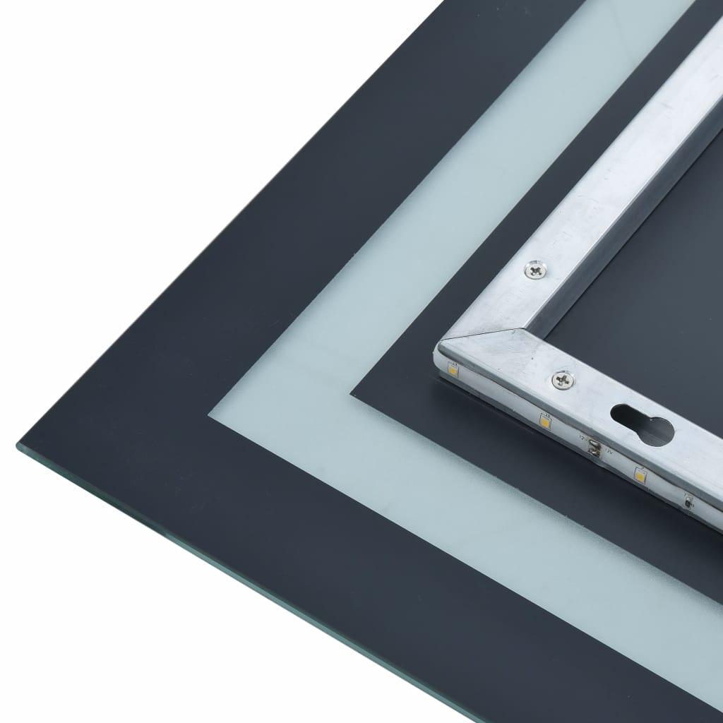 Oglindă cu LED de baie cu senzor tactil, 60 x 100 cm