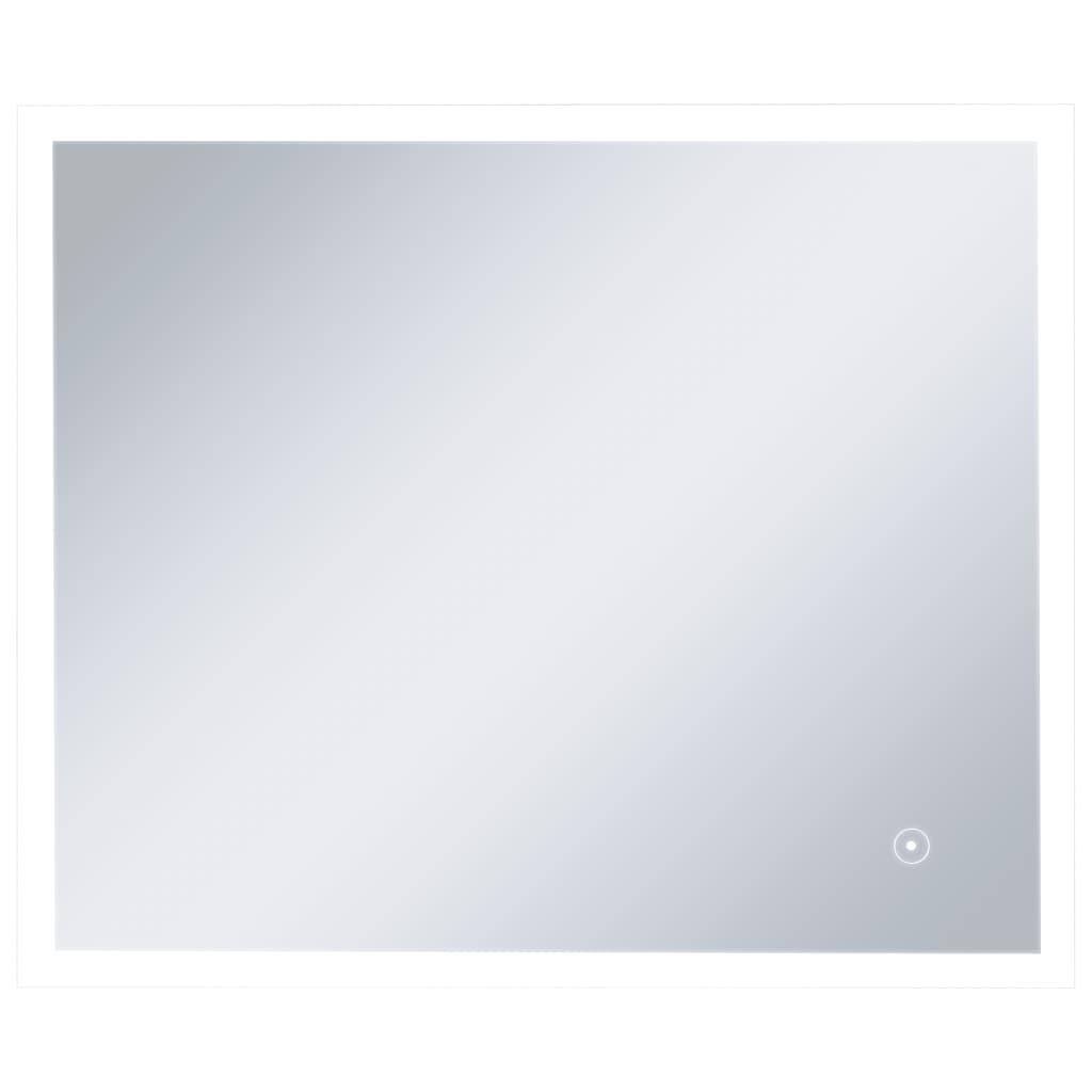 Oglindă cu LED de perete de baie cu senzor tactil, 60 x 50 cm