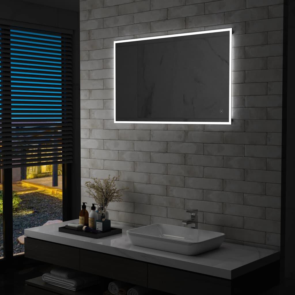 vidaXL Oglindă cu LED de perete de baie cu senzor tactil, 100 x 60 cm