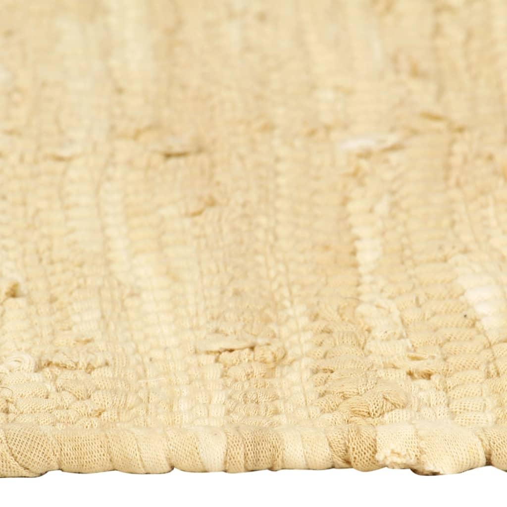 vidaXL Naproane, 4 buc., chindi, bej, 30 x 45 cm, bumbac