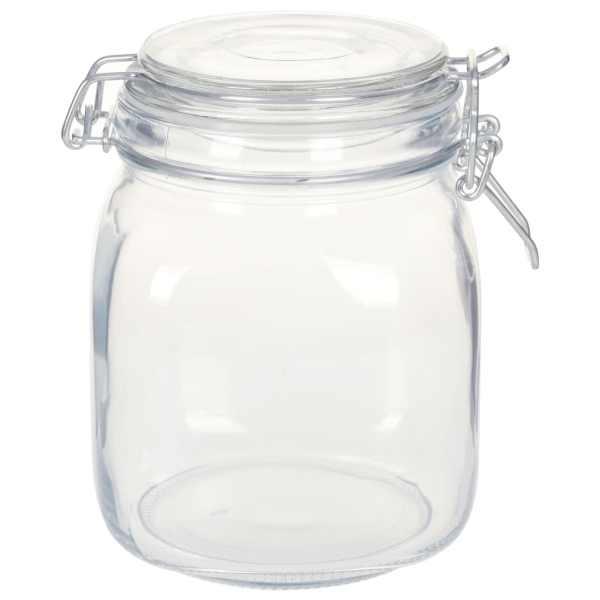 vidaXL Borcane din sticlă cu închidere ermetică, 12 buc., 1 L