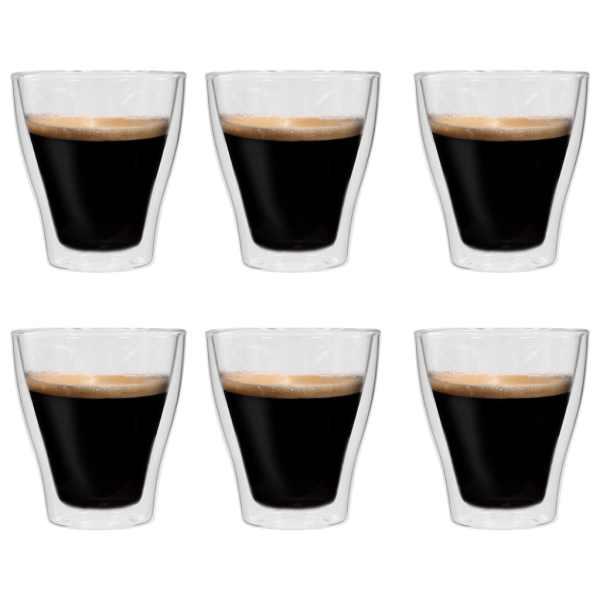 vidaXL Pahare pentru latte macchiato cu pereți dubli, 6 buc., 280 ml