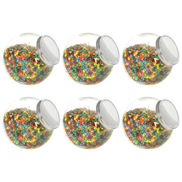 vidaXL Borcane pentru bomboane, 6 buc. 10,5 x 12 x 17 cm, 2200 ml