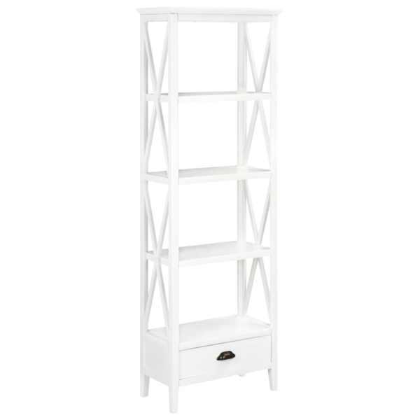 vidaXL Bibliotecă cu 1 sertar, alb 60x30x170 cm, MDF