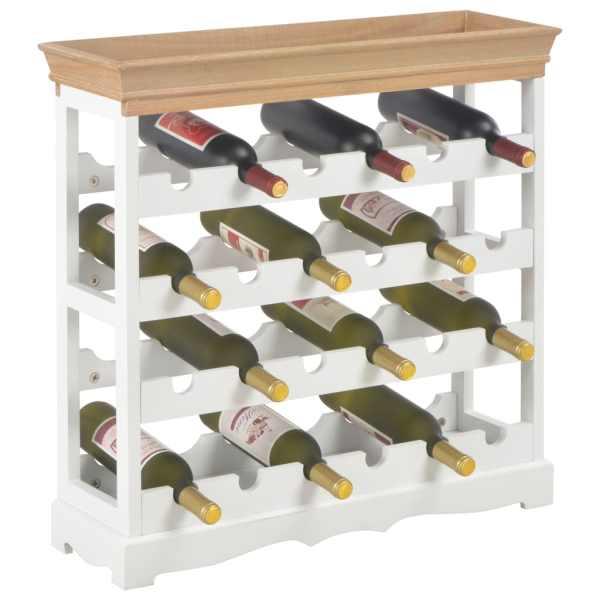 vidaXL Dulap de vinuri, alb, 70 x 22,5 x 70,5 cm, MDF