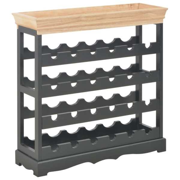 vidaXL Dulap de vinuri, negru, 70 x 22,5 x 70,5 cm, MDF
