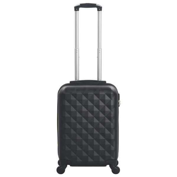 vidaXL Valiză cu carcasă rigidă, negru, ABS