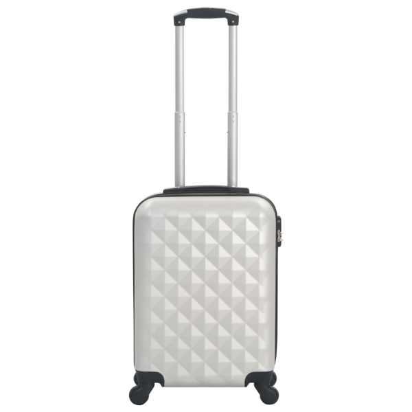 vidaXL Valiză cu carcasă rigidă, argintiu strălucitor, ABS