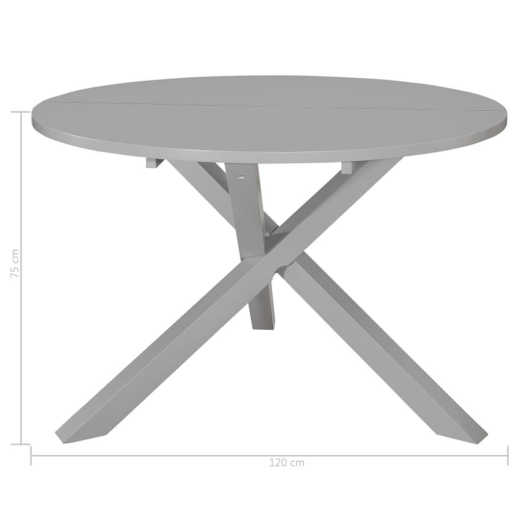 Masă de bucătărie, gri, 120 x 75 cm, MDF
