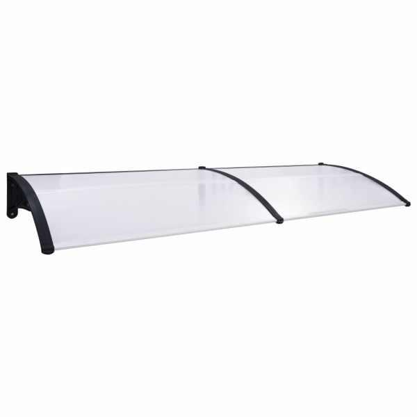 vidaXL Copertină de ușă, negru și transparent, 300 x 80 cm, PC