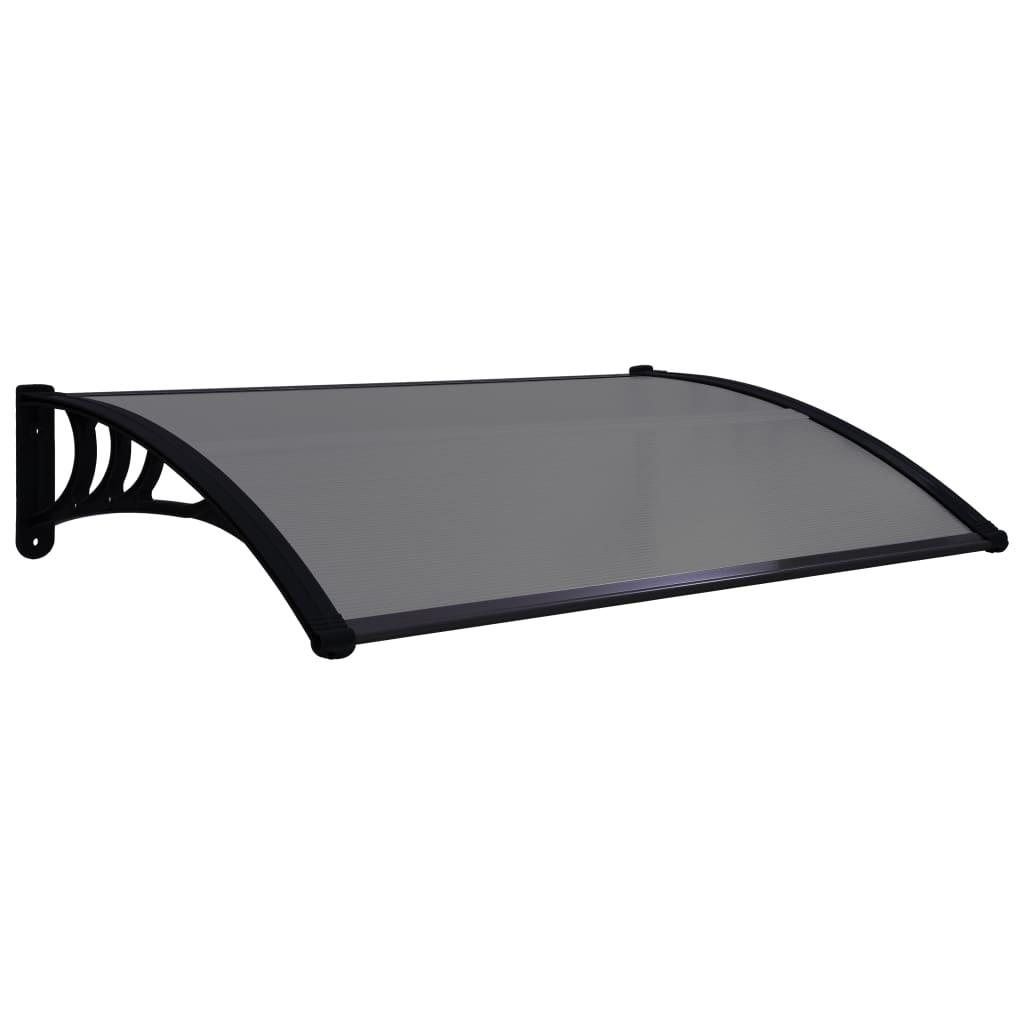 vidaXL Copertină de ușă, negru, 120 x 80 cm, PC
