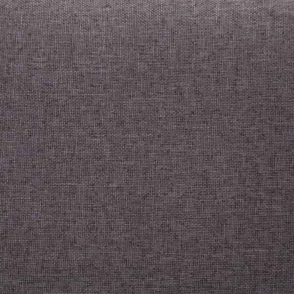 vidaXL Bancă cu compartiment de depozitare gri taupe 116 cm, poliester