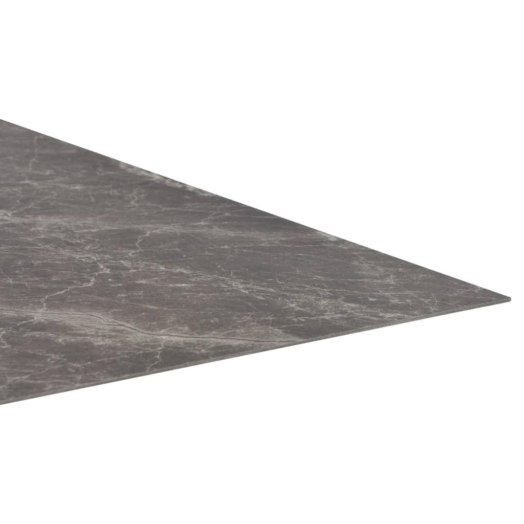 Plăci de pardoseală autoadezive, negru marmură,  5,11 m², PVC