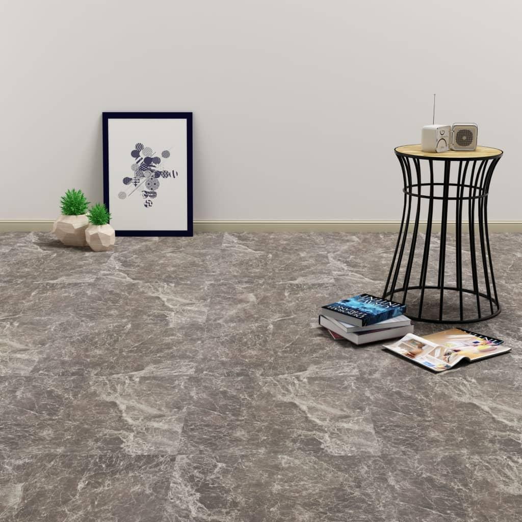 vidaXL Plăci de pardoseală autoadezive, negru marmură, 5,11 m², PVC