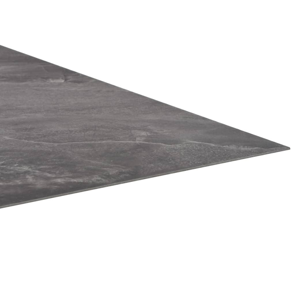 Plăci de pardoseală autoadezive, PVC,  5,11 m², negru, cu model
