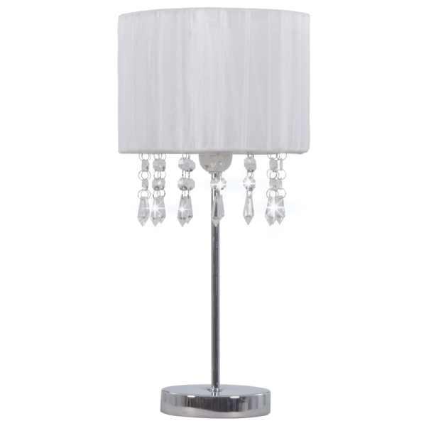 Lampă de birou, alb, rotund, E27