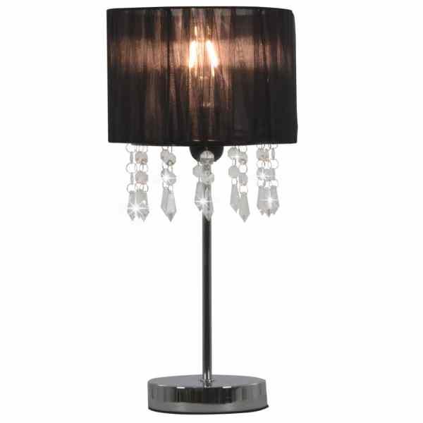 vidaXL Lampă de birou, negru, E27, rotund