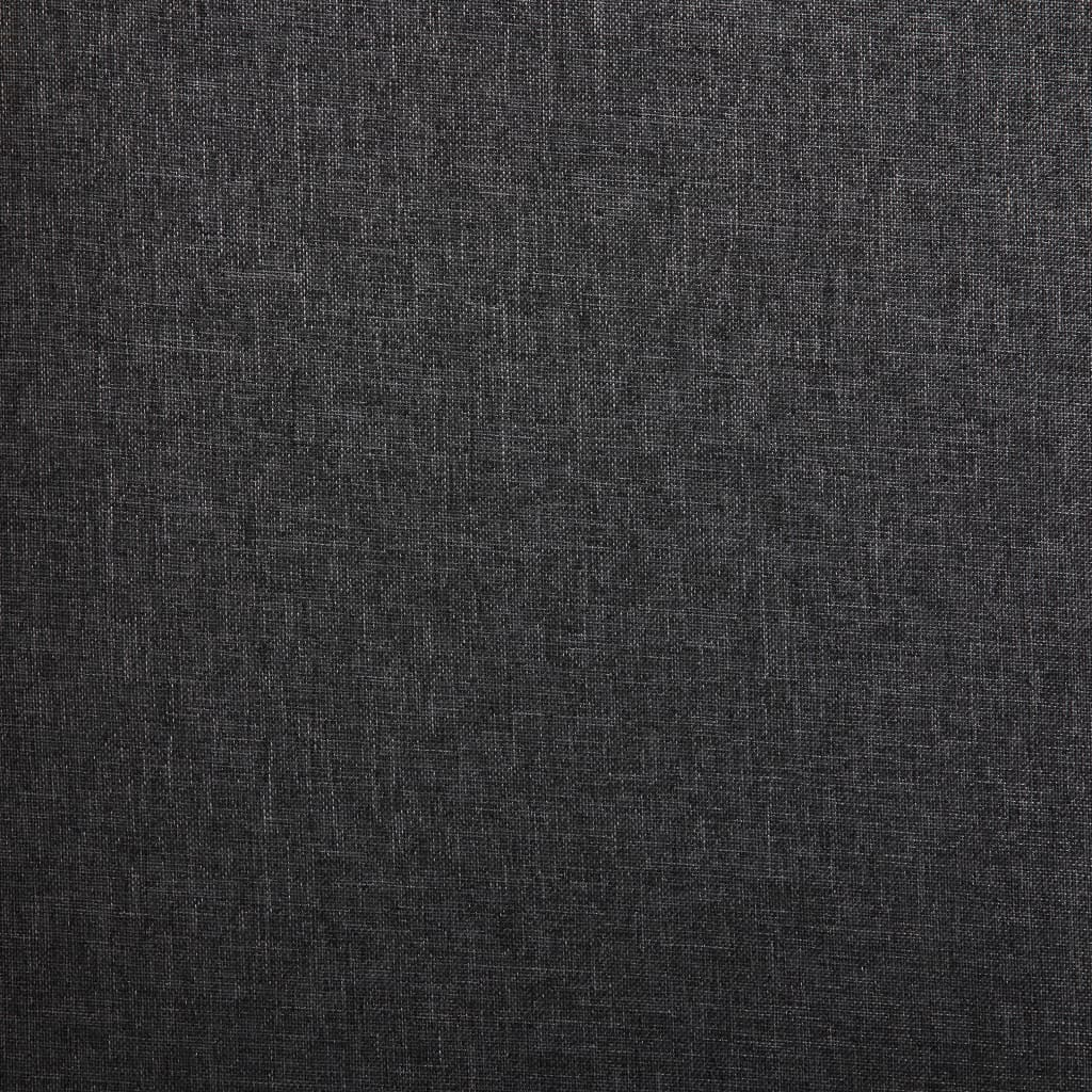 vidaXL Scaune de bucătărie, 2 buc., gri închis, material textil
